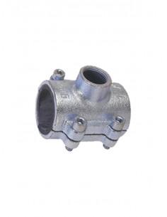 Bezvītņu uzmava ar atzaru tērauda caurulēm 3104G 3/4X1/2 G - 1