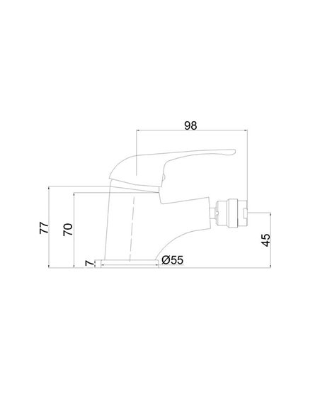 Bidē jaucējkrāns MG-6280 MAGMA JUPITS - 2