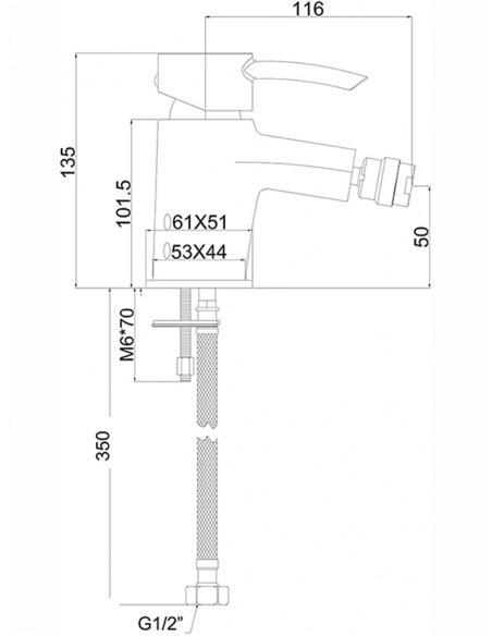 Bidē jaucējkrāns MG6480 MAGMA VENERA - 2