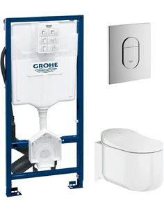 Set: Frame for a toilet Grohe Rapid SL Sensia 39112001 с системой удаления запахов + Toilet wall hung Grohe Sensia Arena 39354S