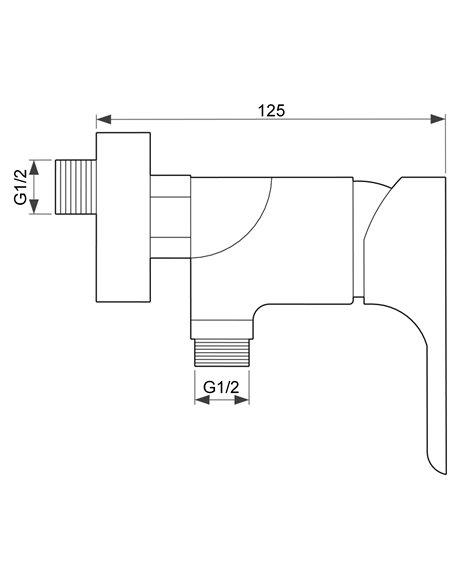 Dušas jaucējkrāns ar komplektu MG-2341 MAGMA SALACA - 2