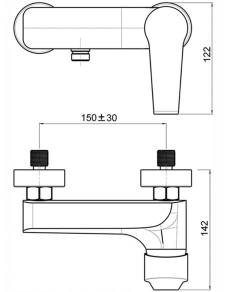 Dušas jaucējkrāns bez komplekta MG-1840 MAGMA JUBILEJAS - 2