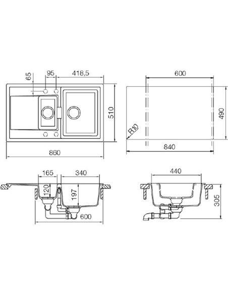 Schock virtuves izlietne Eton 60D - 2