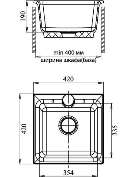 GranFest virtuves izlietne Practic GF-P420 - 4