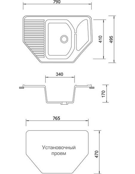 AquaGranitEx virtuves izlietne M-10 - 4