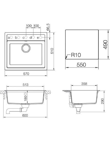 Schock virtuves izlietne Vero 60 (N-100) - 2