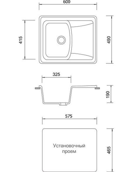AquaGranitEx virtuves izlietne M-17к - 4