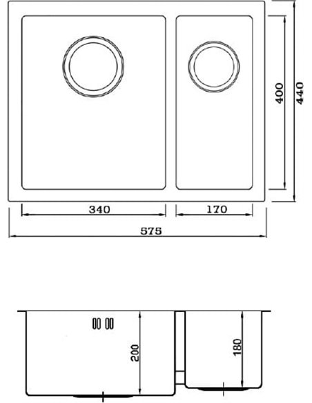 Seaman virtuves izlietne Eco Marino SME-575DR.A - 2