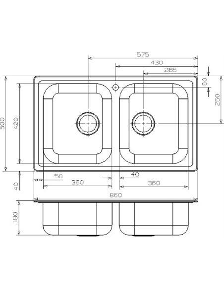 Reginox virtuves izlietne Diplomat 20 LUX KGOKG (box) - 3