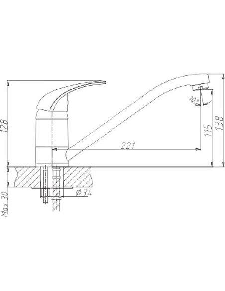 Komplekts: Virtuves izlietne Marrbaxx Венди Z004Q005 + Jaucējkrāns Marrbaxx MG-004Q005 - 4