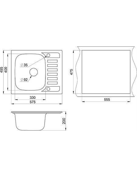 Granula virtuves izlietne GR-5801 - 2
