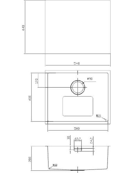 Iddis virtuves izlietne Edifice EDI54B0i77 - 3