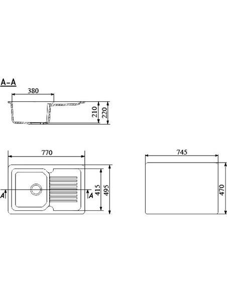 Ulgran virtuves izlietne U-506-308 - 2