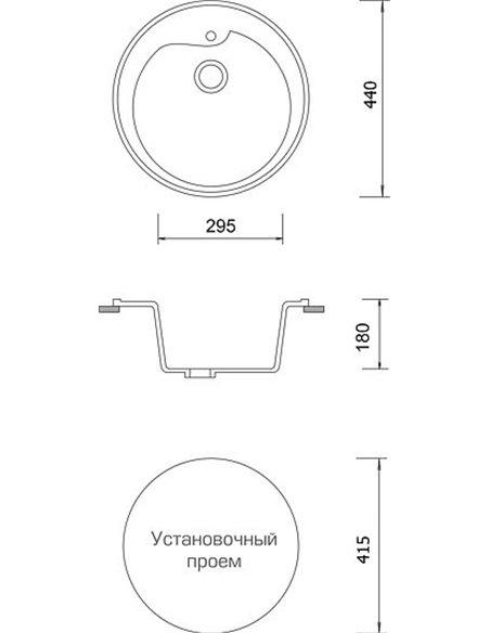 AquaGranitEx virtuves izlietne M-45 - 4