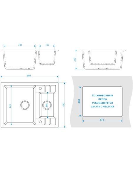 ZETT lab. virtuves izlietne T190Q004 - 3