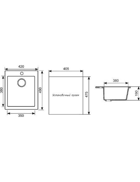 Mixline virtuves izlietne ML-GM14 - 2