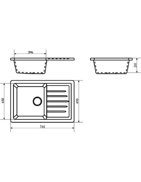 Marrbaxx virtuves izlietne Энди Z016Q007 - 3