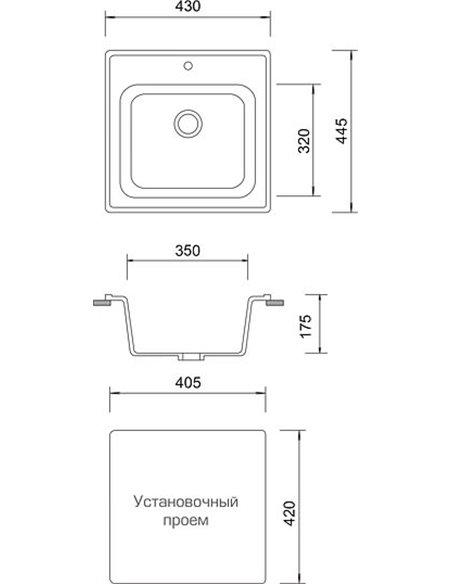 AquaGranitEx virtuves izlietne M-43 - 4
