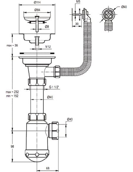 Granula virtuves izlietne GR-8001 - 3