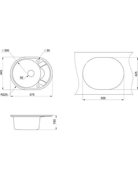 Granula virtuves izlietne GR-5802 - 2