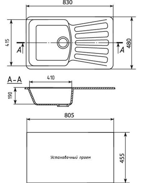 Mixline virtuves izlietne ML-GM20 - 2
