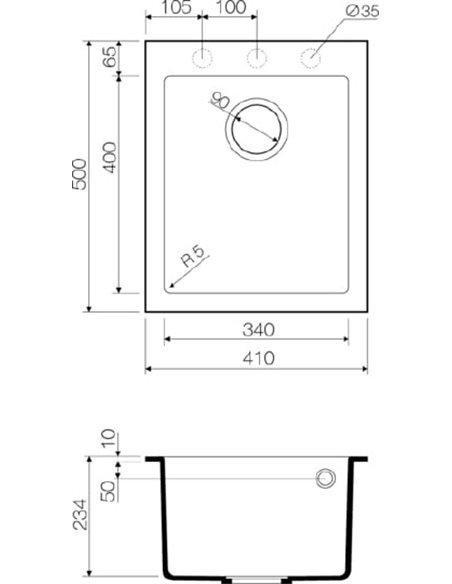 Omoikiri virtuves izlietne Bosen 41-PL - 4