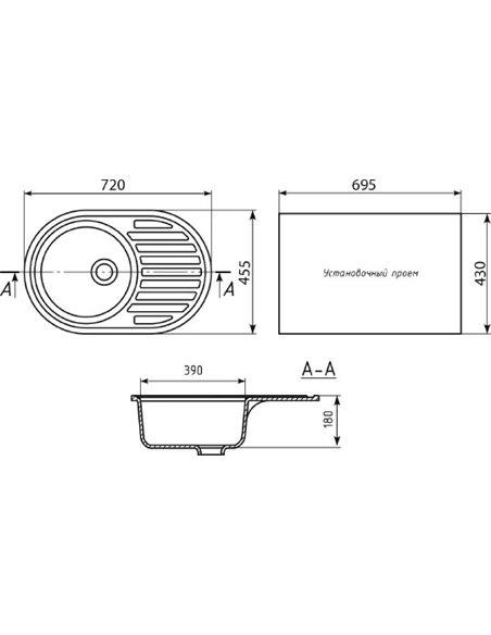 Mixline virtuves izlietne ML-GM16 - 2