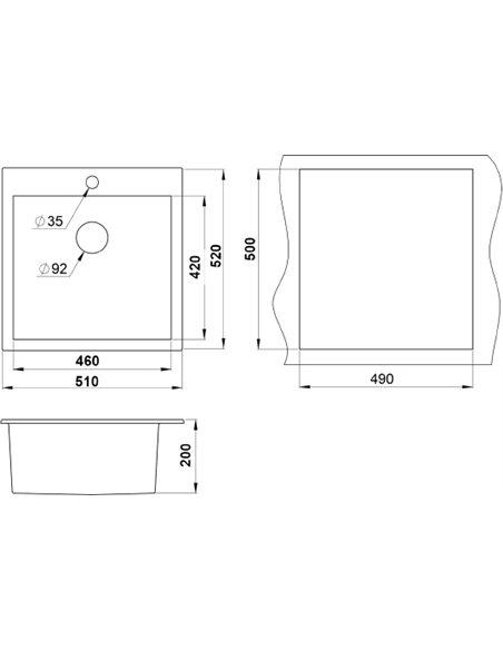 Granula virtuves izlietne GR-5102 - 2
