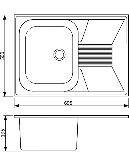 Whinstone virtuves izlietne Рона 1B 1D - 3