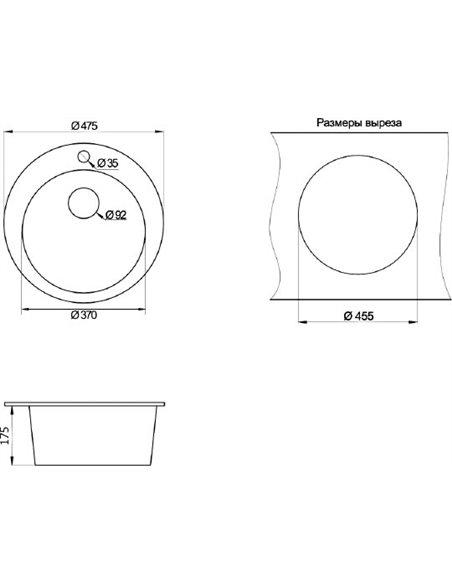 Komplekts: Virtuves izlietne Granula GR-4801 + Jaucējkrāns Granula GR-2167 - 5