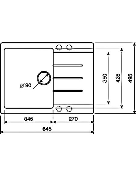 Lava virtuves izlietne L1 - 4