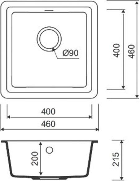 Iddis virtuves izlietne Tanto TU2B461i87 - 3