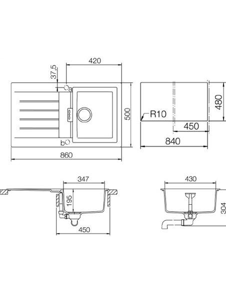 Schock virtuves izlietne Signus 45D (D-100) - 2