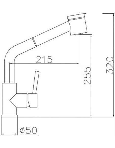 Komplekts: Virtuves izlietne Oulin OL-362 + Jaucējkrāns Oulin OL-8076 - 5