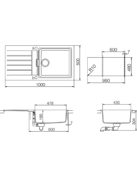 Schock virtuves izlietne Signus 60D Large (D-100L) - 2