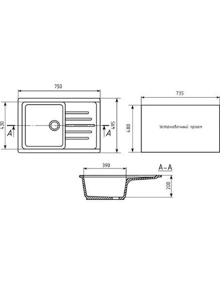 Mixline virtuves izlietne ML-GM19 - 2