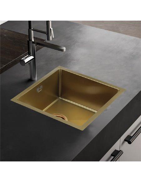 Melana virtuves izlietne D4645HG золото - 2