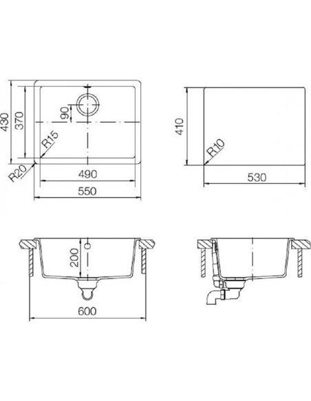 Schock virtuves izlietne Quadro 60 (N-100) - 3