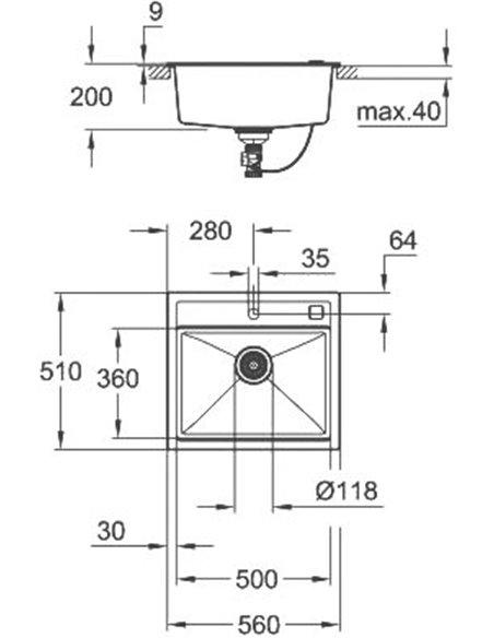 Grohe virtuves izlietne K700 31651AP0 - 3