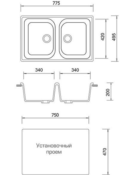 AquaGranitEx virtuves izlietne M-15 - 4