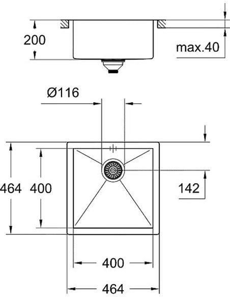 Grohe virtuves izlietne K700 31578SD0 - 3