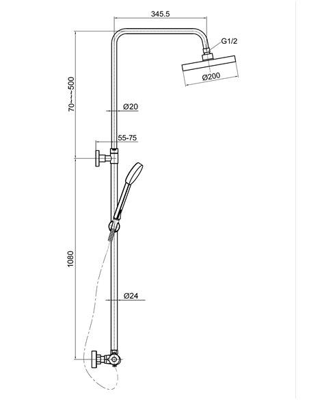 Dušas jaucējkrāns-termostats ar komplektu MG2290 MAGMA AMATA - 2