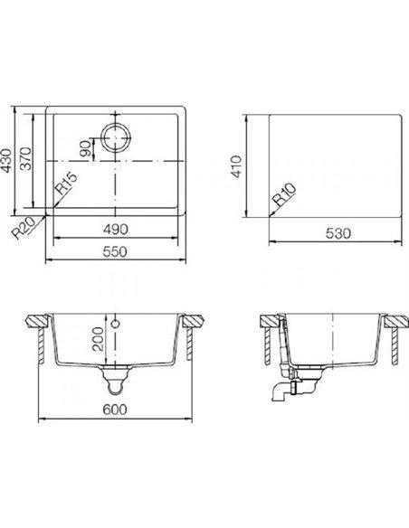 Schock virtuves izlietne Soho 60 (N-100) - 2