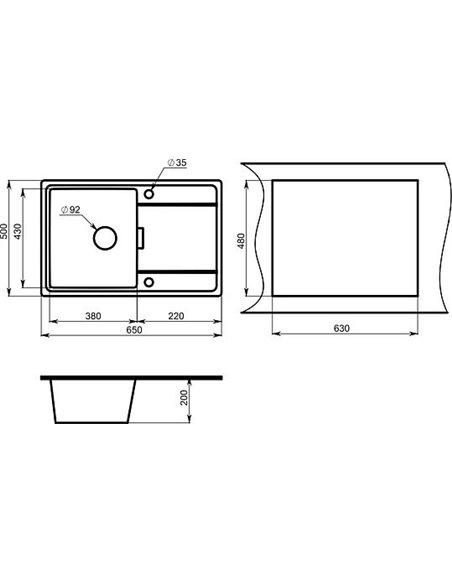 Granula virtuves izlietne GR-6503 - 2