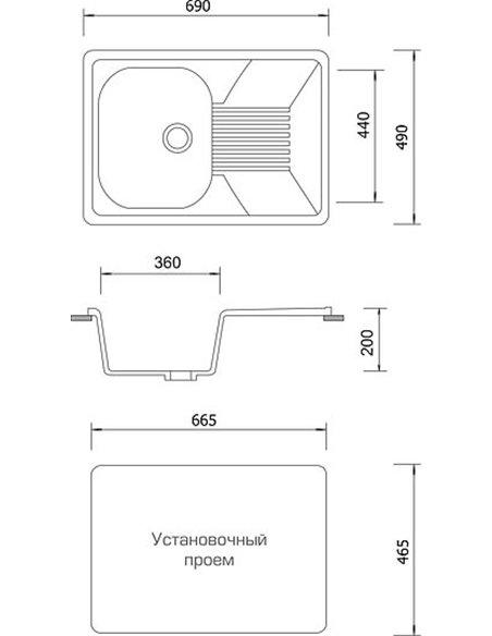 AquaGranitEx virtuves izlietne M-70 - 4