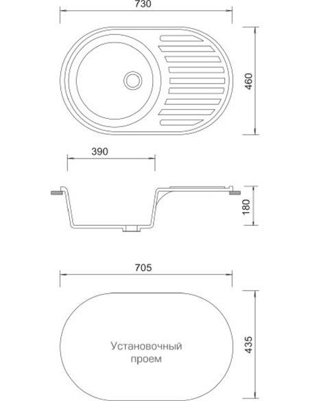 AquaGranitEx virtuves izlietne M-18 - 3