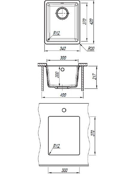 Florentina virtuves izlietne Вега 300 - 2