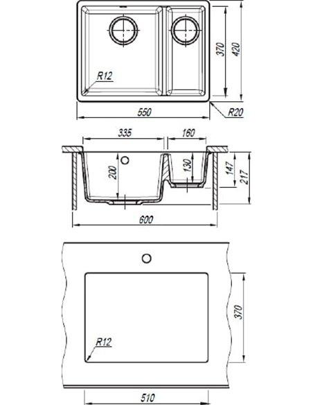 Florentina virtuves izlietne Вега 335/160 - 2