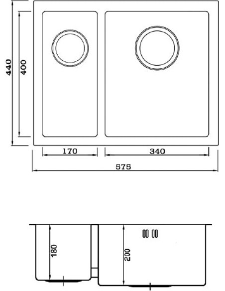 Seaman virtuves izlietne Eco Marino SME-575DL.A - 2