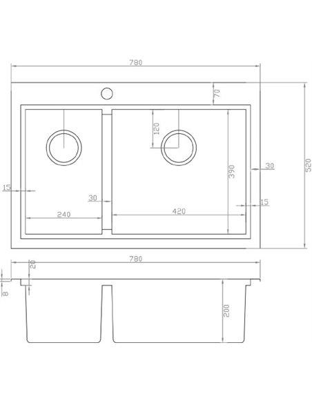 Zorg virtuves izlietne Master X FLASH ZM X-5278-R - 2